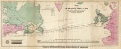 Карта подводного кабеля под Атлантическим океаном