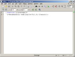 пример написания пользовательской функции в редакторе в MATLAB